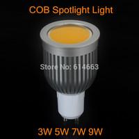 100pcs/lot Free shipping GU10/GU5.3/E27/E14 3W 5W 7W 9W LED COB Spot Light Bulbs Warm White/Cool White High Brightness&Wholesale