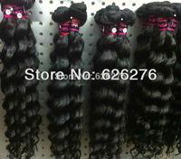 "6A Free SHIPPING 12""-30"" Virgin UNPROCESSED -100% LOOSE deep wave Peruvian hair free SHIPPING 3pcs lot"