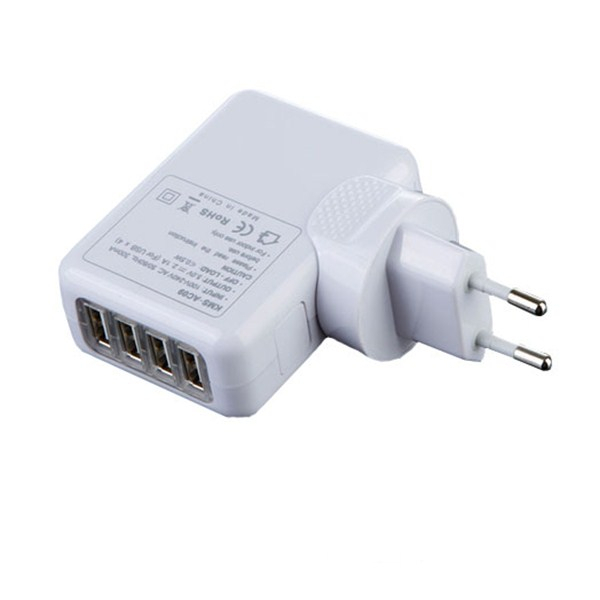 4 USB Port AC Adapter US / EU / UK /AU One Plug Wall Charger for iPhone 4 4s 5 5s ipad for samsung galaxy s3 s4 s5 Free Shipping(China (Mainland))