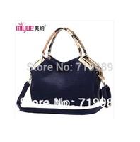 Hot selling new 2014 fashion vintage women handbag crocodile pattern genuine leather brand bag shoulder messenger bags