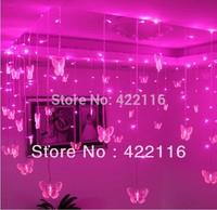 Multi-color Butterfly LED STRING Strip Festival Holiday LIGHTS CHRISTMAS WEDDING Lamps 3.5m 100SMD 110V/220V EU/US/UK/AU Plug