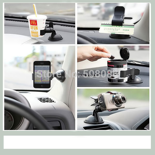 Galaxy S4 Note 2 3 Stand Universal Car Windshield Bracket Desk Holder For Nexus 4 5 LG E960 E980 Holders for iPhone 4 4s 5 5s 5c(China (Mainland))