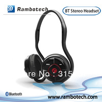 Rambotech wireless bluetooth stereo headset with mic, V2.1 neckband sports headphone,Handsfree call & Music for iPhone,Samsung
