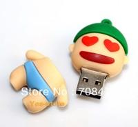 Cartoon Figure Memory Flash Drive 1GB 2GB 4GB 8GB 16GB 32GB Real Capacity Rubber