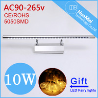 10W Bathroom LED mirror Light,With Button Switch.AC85-265V.5050SMD.Warm White/Cool White Wall Lamps.Free Shipping wall light