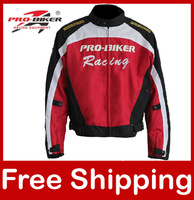 Motorcycle Jacket Waterproof Windproof Anti-UV Breathable Moto Jacket Protection Racing Clothes Full body armor JK-03 Black/Red