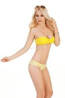 Free Shipping Drop ship cheap polka dot swimwear swimsuit bandeau women bikini fashion 1257G