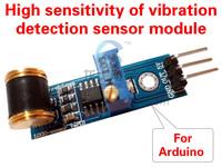 Free shipping 801s  vibration switch detection sensor module High sensitivity of vibration detection sensor module