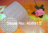 24 Rows Plastic Rhinestone Sewing Mesh Trimming, 3mm Without Stone, Banding with White Plastic Base, Wedding Decor, freeshipping