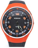 Xonix Brand Mens Sports Watch LED Light Waterproof 100M Japan Movement Fashion New Sports Watch