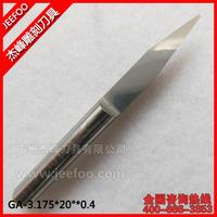 3.175*20Degree*0.4 V Shape Carbide Engraving Flat Bottom CNC Cutting Tool Bits/ Machinery Wooden Cutters