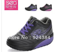 Free shipping 2013 new women, increased winter plus velvet warm, fitness shoes, sport shoes cheap women