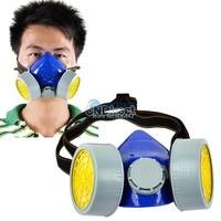 Cheap Double Gas Mask Protection Filter Chemical Gas Respirator Face Mask Dropshipping TK0858