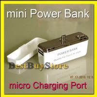 External Battery 2000mah /  POWER BANK Micro USB Port, works good for SAMSUNG / HTC / Motorola / LG mobile works all mobile