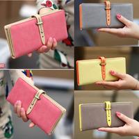 new fashion lady women retro long purse Hit color clutch wallet high quality bag free shipping handbag card holder case