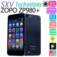 Original 5'' ZOPO ZP980 Phone 2GB RAM 32GB ROM MTK6589T Quad Core 1.5GHz Android 4.2 FHD 1920x1080 Camera 5MP/13MP IN Stock