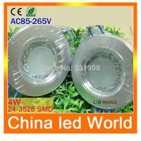 high quality& high power 1pcs 4w led downlight lamp 2835 SMD AC 85V-265V Cool white Warm white  ,hole size:70-75mm led cob Light