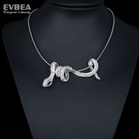 snake choker chain 925 silver snake pendant necklace clear crystal choker necklace and necklaces choker snake for women 2014