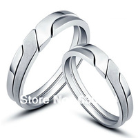 #CR0496 925 Sterling Silver lovers' rings fashion Jewelry Luxurious CZ Stone couple ring valentines couple rings