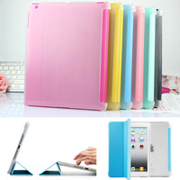 For Mini 1 /2 UltraThin Magnetic Sleep Wake Up Smart Stand Front Leather Case +Back Hard Cover for Apple ipad Mini 2 With Retina