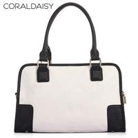 Women Leather Handbags Coraldaisy   New  2013     Cowhide  Shoulder Bags   Leisure Bump Color Bag