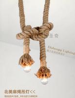 Personality hemp rope pendant light decoration lamp nostalgic vintage pendant light