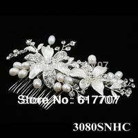 Luxurious Czech Rhinestone Crystal Pearl Bridal Hair Combs Hair Jewelry Wedding Hair Accessories