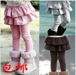 Spring 2014 han edition joker cake female children's wear children's cotton leggings pants skirt baby long pants free shipping(China (Mainland))