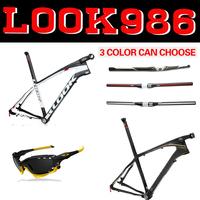 2014 Look 986 mtb bike carbon bicycle frame 26ER/29ER with stem mtb frame 3k carbon light frame look 986 free shipping