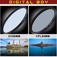 Digital Boy 86mm Circular Polarizer +UV filter Cokin Filter for Digital Cameras Fast Delivery
