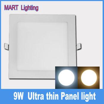 9W ultra thin Recessed slim led panel  radio bathroom ceiling down light AC110-240V
