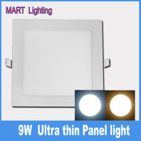 9W ultra thin Recessed slim led panel  radio bathroom ceiling down light AC110-240V