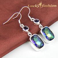 Fashion ear cuff 2014 brincos femnininas AAA+ 925 sterling silver sparking dangle earrings for women
