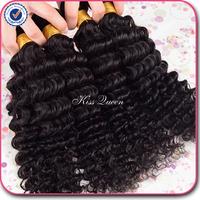peruvian deep wave virgin hair 3 pcs lot free shipping peruvian deep curly virgin hair extension natural black hair