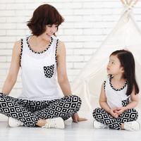 Free Shipping roupas de crianca 2014 baby kids clothing sets brand art print cotton t-shirt+pants Family Pack,for mom,girls,boys