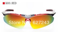 CPAM Free Shipping Polarized  Bicycle Sports Men Glasses Red
