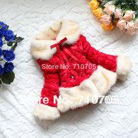 Free shipping Girls clothes cotton coat jacket sweater plush