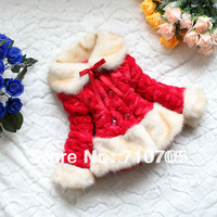 Free shipping Girls clothes cotton coat jacket sweater plush