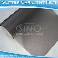 SINO CAR STICKER 0.3x9m  Free Shipping Glitter Car  Headlight Vinyl Car Prevailing Sticker Foil For Lights