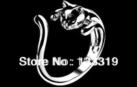 Adjustable Lovely Cat Hot! Cat Ring Fashion Finger ring  Min.order is $10 (mix order)free shipping