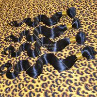 Peruvian Virgin Hair Body Wave 4pcs Lot Rosa Hair Products Natural Black Can Bleached Cheap Human Hair Weaves 5A Free Shipping