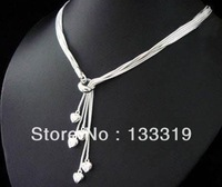 Christmas promotion,high quality silver heart necklace,fashion Silver jewelry sets  Min.order is $5 (mix order),free shipping