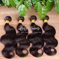Malaysian Body Wave 3pcs/lot color #1B Malaysian Virgin Hair 100% Unprocessed Human Hair Rosa Hair Products