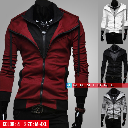2014 New Fashion Brand Men's Clothing,Double Layer Zipper-Up Men's Hoodies Jackets Male,Sports Casual Men's Fleece Hoodies Coats(China (Mainland))