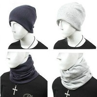 2014 New Korean The Men's Wool Caps Winter Autumn Fashion Hats Solid Color Knitted Crochet Beanies For Men Free shipping