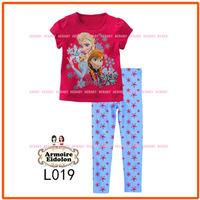 Girls Frozen Princess Pajamas Sets Kids Autumn -Summer Clothing Set Wholesale New 2013 Children Red Sleepwear L019