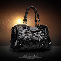 Fashion Genuine Leather Women's Brand Handbags High Quality 2014 Cowhide Crocodile Designer Chain Bag Women's Messenger  bag 55