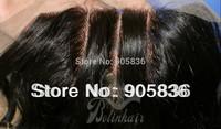 "3 way part  natural straight  brazilian  virgin hair lace closure 4""by5"""