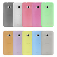 New Cute ! Ultra Thin Slim 0.3mm Matte Designer Soft Plastic Back Case Protective Cover For HTC ONE M7 Free Shipping 10 Colors