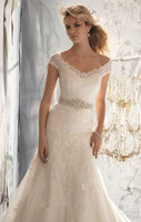 Christmas Wedding Dresses Organza White/Iovry Mermaid Cap sleeve Wedding  dress Custom-made